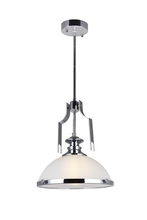 CWI Lighting 9948P12-1-601 - 1 Light Down Pendant with Chrome finish