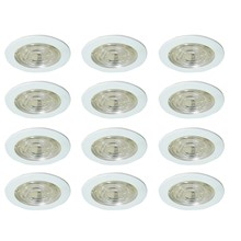 Elegant R4-108CW-12PK - 4 INCH frosted white SHOWER TRIM WITH CHROME REFLECTOR, FITS PAR20/R20/E26 12 PACK