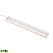 ELK Lighting LV032RSF - ZeeLED Pro 1-Light Utility Light in White with Diffused Glass - Integrated LED
